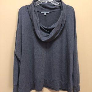 Olivia Sky Cowl Neck Comfy Loose Fitting Shirt